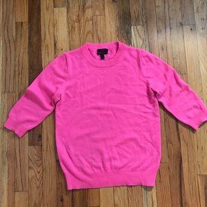 J.Crew Cashmere 3/4 Sleeve pink sweater m medium